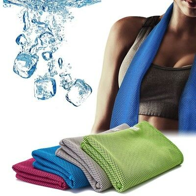 (Green) - Cooling Towel for Instant Relief, 100cm x 30cm Chilling Neck Wrap,