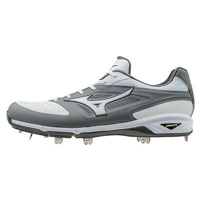 (8 D(M) US, Grey/White) - Mizuno Men's Dominant Ic Baseball Shoe. Free Delivery