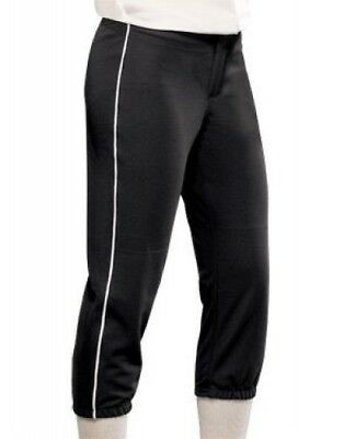(Small, Black/White) - Women's All-Star Softball Pant. Teamwork
