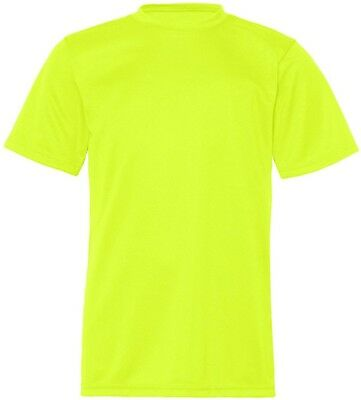 (Medium, Safety Yellow) - C2 Sport 5200 - Youth Short Sleeve Performance T-Shirt