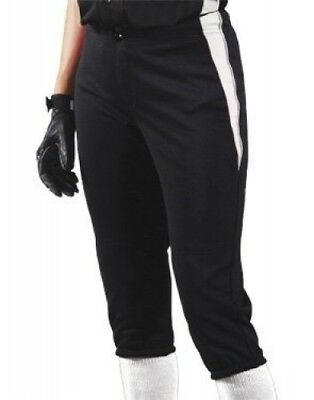 (Small, Black/White/White) - Women's Changeup Softball Pant. Teamwork