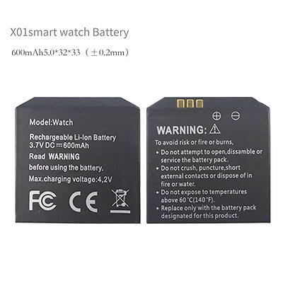 Smart watch battery Large capacity long standby for Omate/X01/X01S Androidwatch
