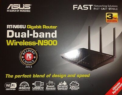Router Asus Dual-band Wireless N900 RT-N66U