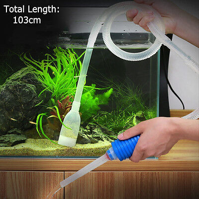 New Aquarium Gravel Fish Tank Vacuum Syphon Cleaner Pump Water 103cm EC
