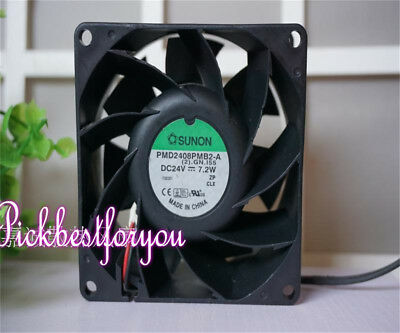 SUNON PMD2408PMB2-A Inverter cooling fan DC24V 7.2W 80×80×38mm 2pin #MK100 QL