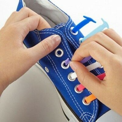Athletic Running No Tie Shoelaces Elastic Silicone Shoe Lace Sneakers Fit Strap