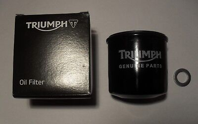 GENUINE TRIUMPH STREET TRIPLE / R ~ OIL FILTER with SUMP PLUG WASHER