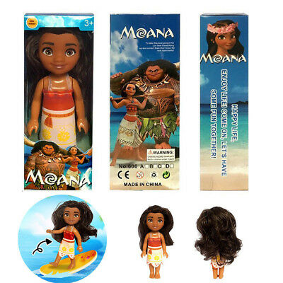 Kid Xmas Gifts Moana Princess Adventure Characters Action Figure Doll Toy 16cm
