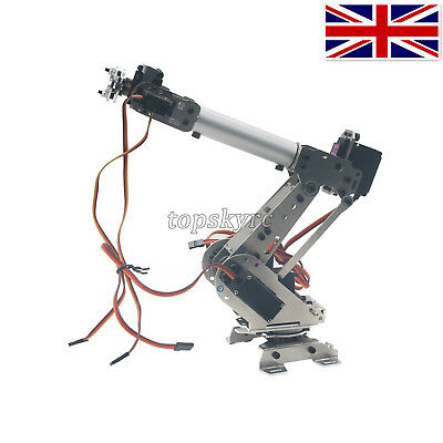 6Dof Industrial Mechanical Robot Arm Model Metal Robotic Manipulator DIY UK