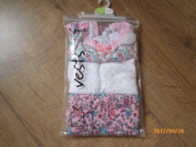 Brand New Lovely Next Girls Pack 3 Vest Age 1 1/2-2 Years