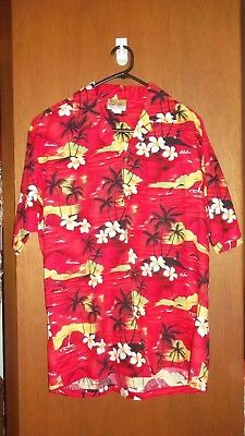Genuine Vintage cotton Men's Hawaiian ORIGINAL Island Shirt - SZ XL 110 - 120 cm
