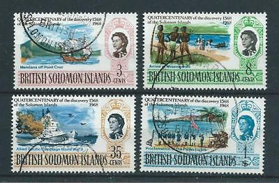 Solomon Islands SG162-165 1968 400th Anniversary of Discovery Fine Used