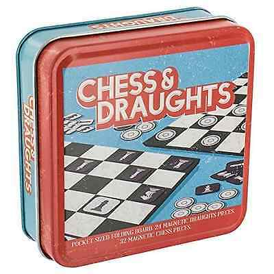 Paladone Chess and Draughts Set - Pocket Sized Magnetic Game - Gift