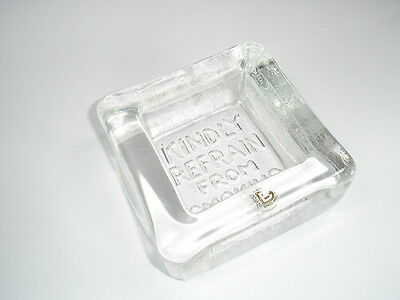 Unusual Vintage Heavy Dartington 24% Lead Crystal Ashtray With Text