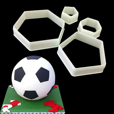 4pcs Sugarcraft Geometry Football Cutter Cake Mold Cake Decorating Tool Bakeware