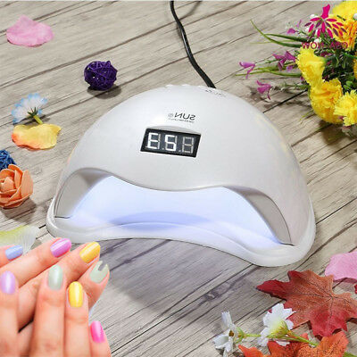 SUN5 Nail Lamp 48W UV LED Gel Nail Dryer Cure Manicure Pedicure Machine 4 Timer