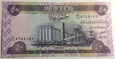 Iraq Dinar 50 Banknote Middle East