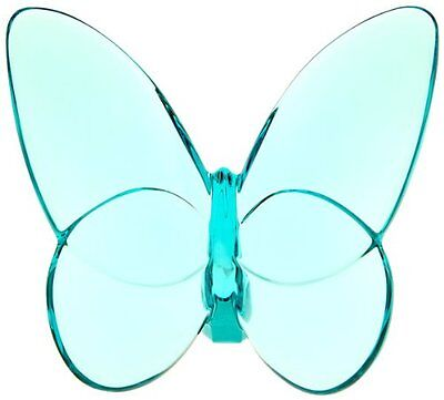 Baccarat Lucky Butterfly Turquoise Crystal 2105932 NEW, Free Shipping