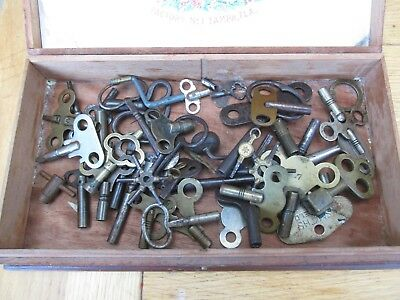Vintage Job Lot of 48 Clock And Watch Winding Keys - USED