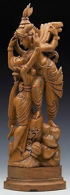 Antique South East Asian Wooden Lovers Figure Group C.1900
