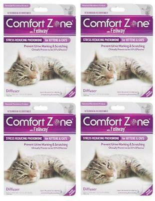Comfort Zone with Feliway 4Pack Cats Diffusers NEW, Free Shipping