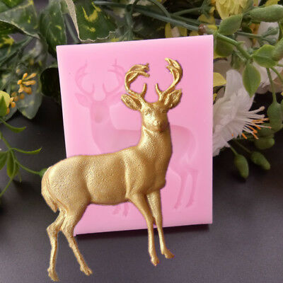 3D Deer Cake Silicone Molds Fondant Cake Decorating Tools Kitchen Baking Mold