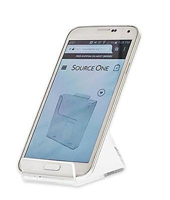 SourceOne Premium 6 Pack Clear Acrylic Cell Phone Stand Display Holder NEW