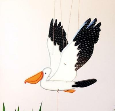 Flying Pelican Mobile Sea Shore Bird Decor Colombia Fair Trade Hand Painted