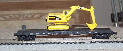 N Scale Kadee Canadian Pacific Flatcar CP300049 With Cat Loader