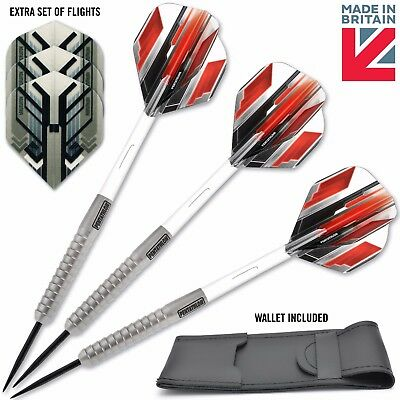 90% 24G Pentathlon Tungsten Darts Set + Clear Stems/Shafts + Strong Dart Flights