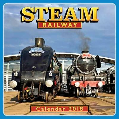 Steam Railway Official 2018 Square Wall Calendar