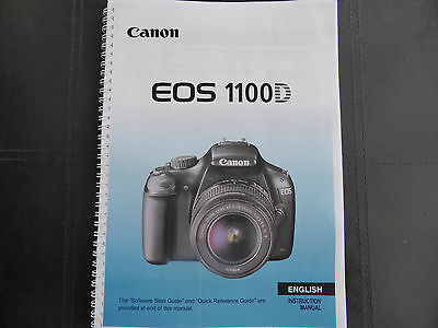 ~PRINTED~ Canon EOS 1100D  User guide Instruction manual A4 or A5  COLOUR