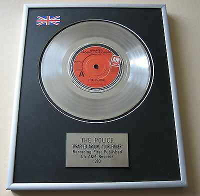 THE POLICE Wrapped Around Your Finger PLATINUM SINGLE DISC PRESENTATION