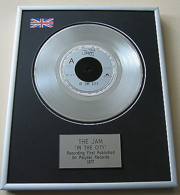 Paul Weller THE JAM In The City PLATINUM SINGLE DISC PRESENTATION