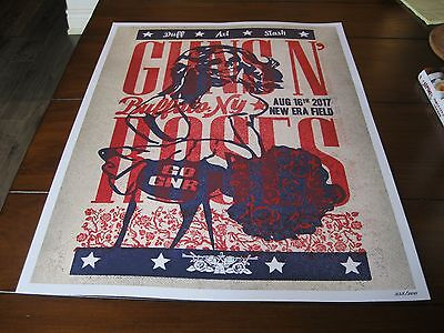 Guns N' Roses Limited Numbered Rare Poster Lithograph Buffalo, New York Slash