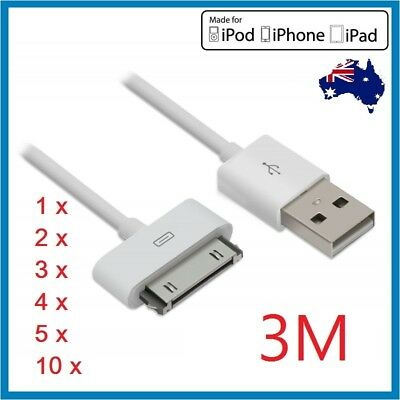 1-10Pack USB Data Charger Cable for iPhone 4S 4 3GS 3 iPod Touch iPad 2 3