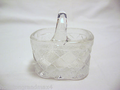 Basket cut glass clear and textured weave design thick glass