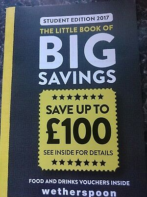 Wetherspoon voucher booklet £100 worth of savings