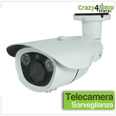 Telecamera Ahd 2.0 Mp Videosorveglianza Led Ir Array Zoom Varifocale 2.8-12Mm