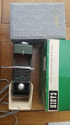 Vintage ERNO CABIN SLIDE PROJECTOR for 35mm film slides, Boxed and cased