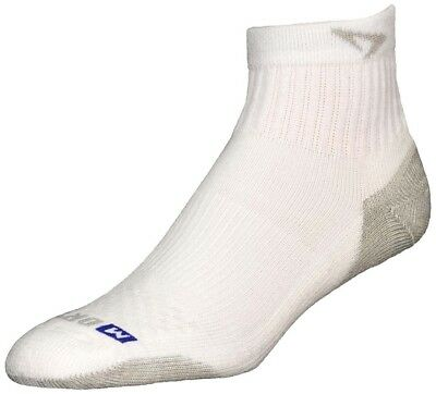 (Small, White / Gray) - Drymax Sport 1/4 Crew Socks. Shipping is Free