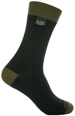(Olive Green, Large (UK 9-11)) - DexShell Thermlite Waterproof Socks. Best Price