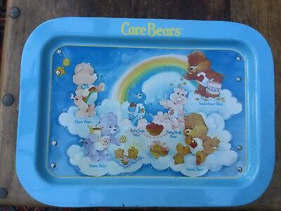 Vintage Care Bears Metal Play Tray 1986