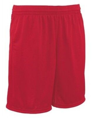 (Large, Scarlet) - Youth Trainer Coaches Short. Teamwork. Free Shipping