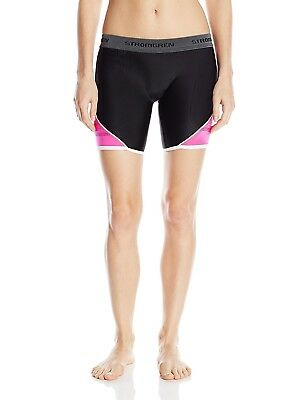 (Large, Black/Pink) - Cramer Women's Crossover Softball Sliding Shorts w/