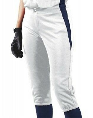 (Medium, White/Navy/Navy) - Women's Changeup Softball Pant. Teamwork