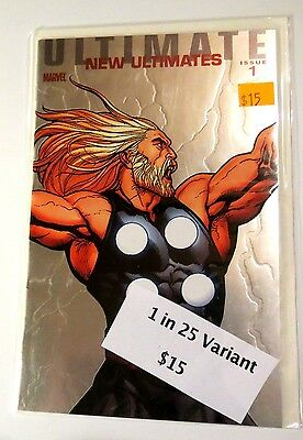 Ultimate New Ultimates Issue 1 1 in 25 Variant  Marvel modern Age Comic CB1140