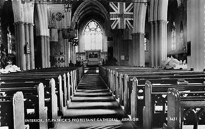 Armagh, St. Patrick's Protestant Cathedral, Interior, Real Photograph