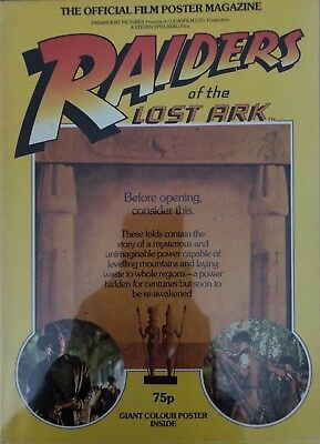 RAIDERS OF THE LOST ARK - Vintage Original Poster Magazine - Indiana Jones 1981