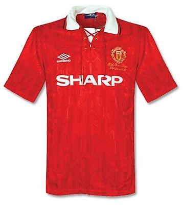 1992-1994 Manchester United home retro classic soccer football shirt jersey kit
